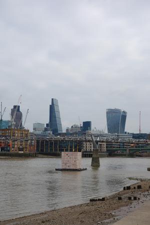 LONDON, UK - CIRCA SEPTEMBER 2016: Panoramic view of River Thames