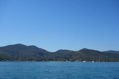 View of Portoferraio in Elba Island, Italy