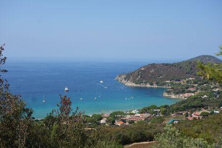 elba: View of Biodola Scaglieri in Elba Island, Italy Stock Photo