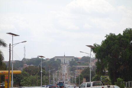 KAMPALA, UGANDA - CIRCA SEPTEMBER 2016: Bulange Lukiiko (meaning Parliament) of the Kingdom of Buganda on Namirembe Hill
