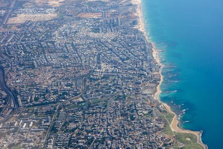 Aerial view of the city of Tel Aviv, Israel