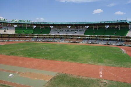nairobi: NAIROBI, KENYA - CIRCA OCTOBER 2016: Kasarani Safaricom Stadium Editorial