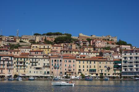 elba: ELBA ISLAND, ITALY - CIRCA AUGUST 2016: View of Portoferraio