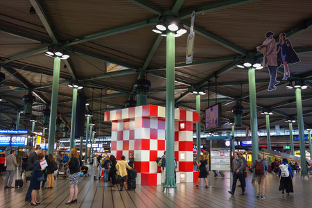 AMSTERDAM, NETHERLANDS - CIRCA SEPTEMBER 2016: Meeting Point at Schiphol Amsterdam Airport Editorial