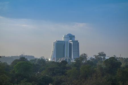 KAMPALA, UGANDA - CIRCA SEPTEMBER 2016: Hilton Hotel is the highest building in Kampala