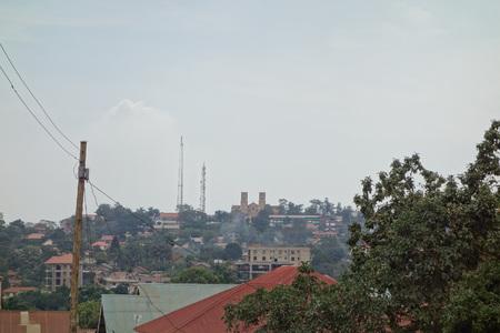 KAMPALA, UGANDA - CIRCA SEPTEMBER 2016: View of the city of Kampala