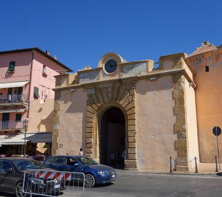 ELBA ISLAND, ITALY - CIRCA AUGUST 2016: View of Portoferraio
