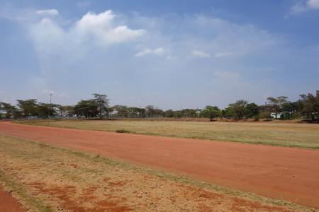 NAIROBI, KENYA - CIRCA OCTOBER 2016: Kasarani Safaricom Stadium Stock Photo