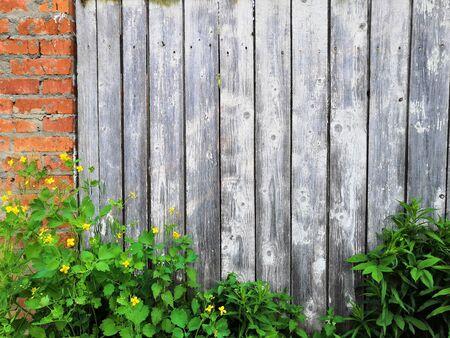 Wood brown fence