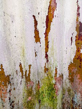 White rusty metal surface texture background, closeup metallic texture