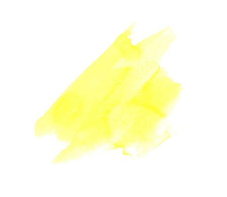Abstract yellow watercolor hand paint texture stain Easter, isolated on white background, watercolor textured backdrop, watercolor drop,stains Фото со стока