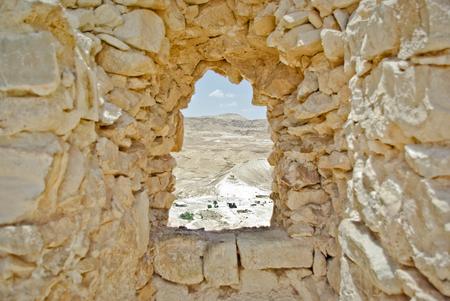 masada: View from Masada , Israel Stock Photo