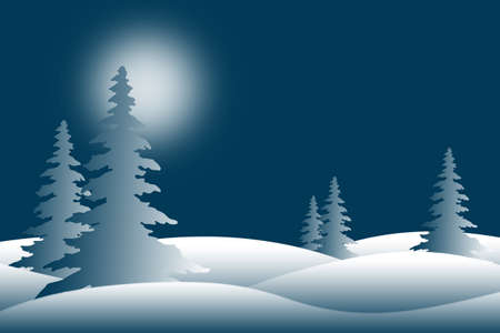 Snowy Winter Pine Trees
