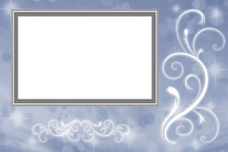 Blue Picture Frame Background