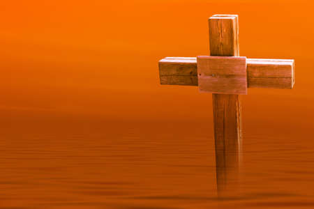 Lone Wooden Cross