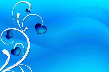 Tree Heart Swirl on a blue background.