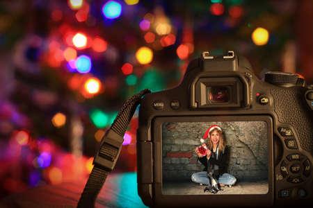 デジタル カメラのクリスマス シーン