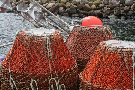Fishing Basket Traps Stock Photo