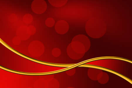 Abstract red bokeh and gold ribbon background Stok Fotoğraf
