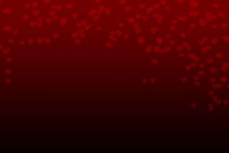 Abstract red falling heart bokeh background Standard-Bild - 123350934