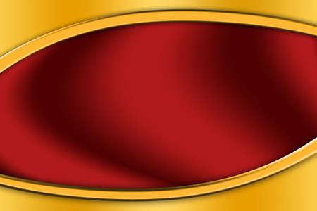 Gold frame around a red background Standard-Bild - 123350936