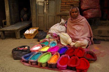 a street vendor in asan toll in Kathmandu Nepal Redakční