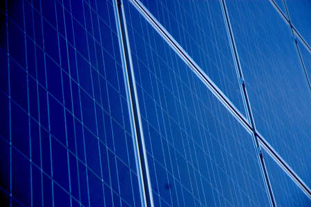 array: A close up of a solar array  Stock Photo