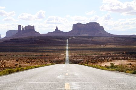 road through Monument Valley Stock Photo - 6242490