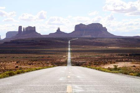 road through Monument Valley photo