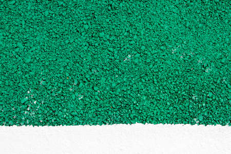 road surface: green road surface texture background and white painted line Stock Photo
