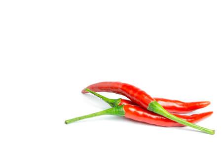 epices: piment rouge sur fond blanc, isol�