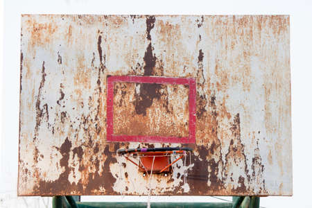 backboard: basketball iron board, backboard, dirty, grunge, old