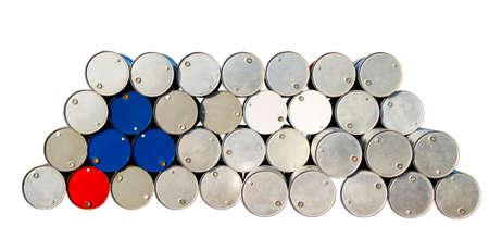 gallons: Oil gallons on white background, isolated clipping path