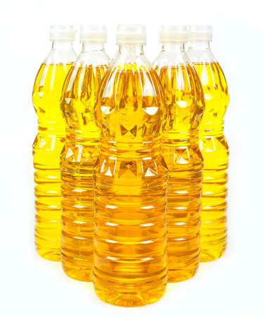 refined: bottles oil of refined palm olein from pericarp