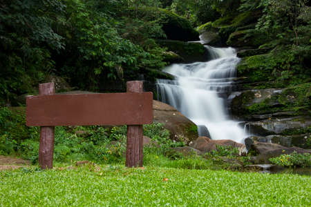 Beautiful waterfall in Thailand and nature background