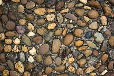 Beautiful abstract round rocks background Stock Photo