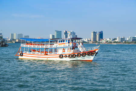passenger boat for travel in Pattaya, Chon buri, Thailand