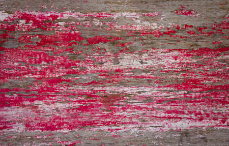 grunge and aged red wooden panel texture background Stock Photo