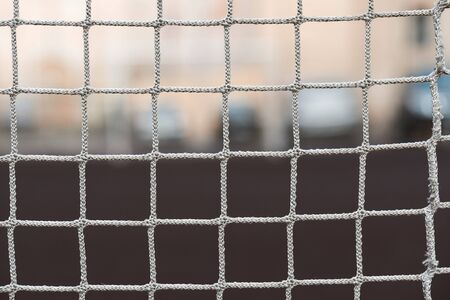 grid football gates on the city court.