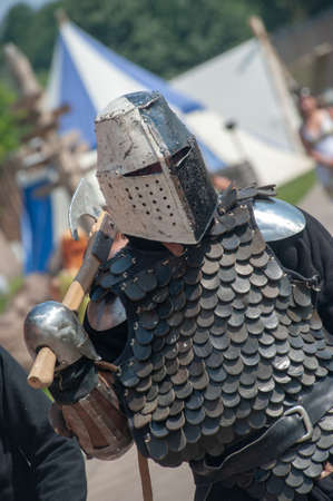 Knights in armor. Tournament tournament