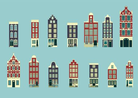 Set in a typical Holland buildings, the variation of architecture in flat design