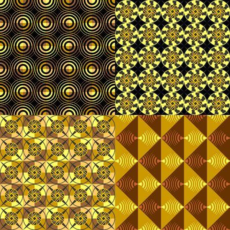 Art Deco seamless pattern geometric vector set.