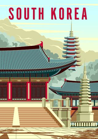 Ancient Traditional Buddhist temple in South Korea.