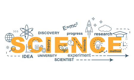 SCIENCE concept. Thin line flat design banner for website and mobile website, easy to use and highly customizable. Illustration