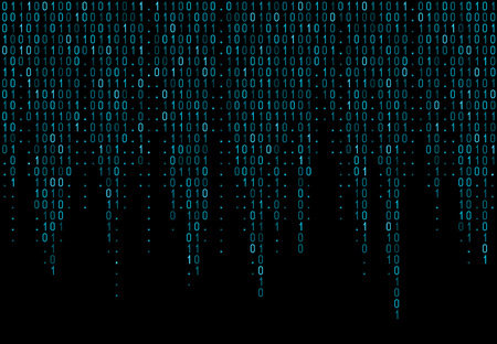 Binary computer code. Matrix background with digits 1.0. Vector illustration. Illustration
