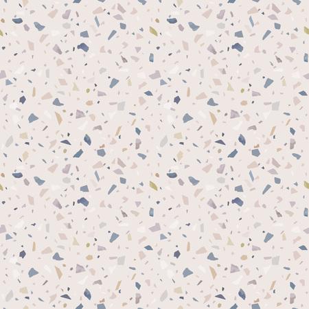 Granite stone terrazzo floor texture. Abstract background, seamless pattern. Vector illustration.