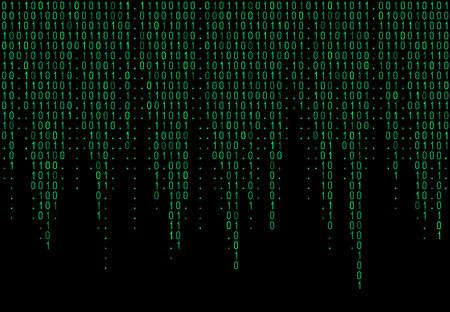 Binary computer code. Matrix background with digits 1.0. Vector illustration. Illustration