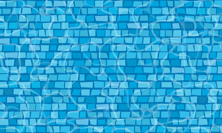 Swimming pool with mosaic tiles. Overhead view. Texture of water surface. Foto de archivo - 122587015