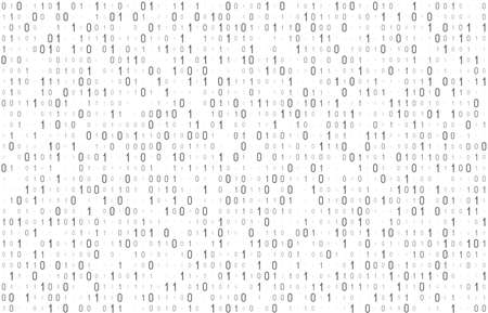 Binary computer code seamless pattern. Matrix background with digits 1.0. Vector illustration. 矢量图像