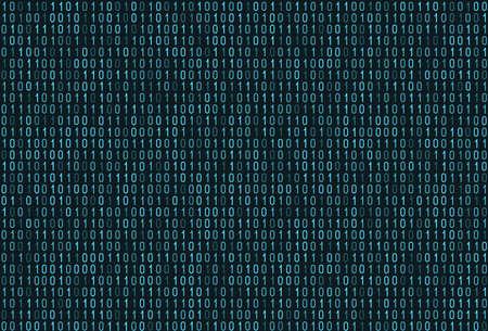 Binary computer code seamless pattern. Matrix background with digits 1.0. Vector illustration. Ilustracja
